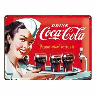 Retro muurplaatje coca cola 30 x 40 cm