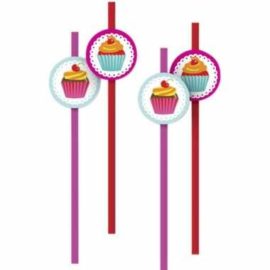 Rietjes met cupcakes