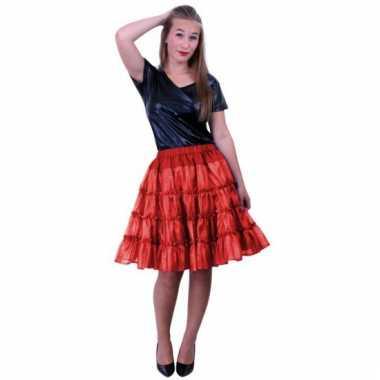 Rode 5-laags petticoat voor dames