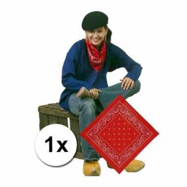 Rode bandanaa met boeren print