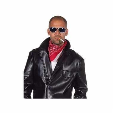 Rode biker bandana met print
