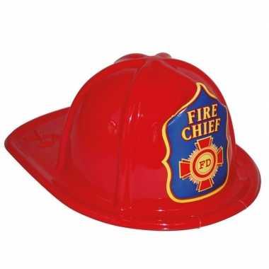 Rode brandweerhelm speelgoed verkleedaccessoire voor kinderen