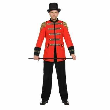 Rode circusdirecteur jas voor heren