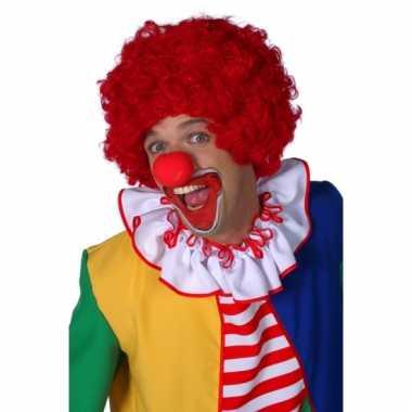 Rode clowns pruik