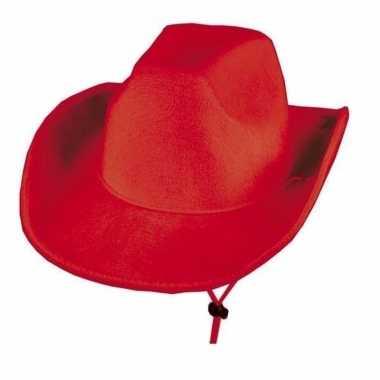 Rode cowboyhoed met lus