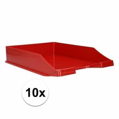 Rode documentenbak a4 10 stuks