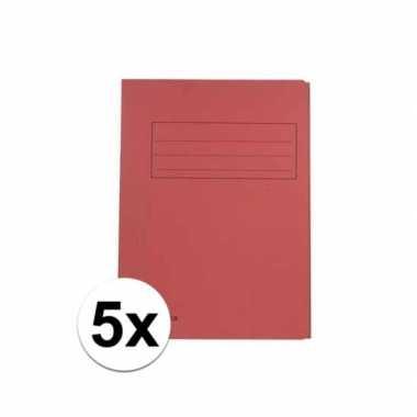 Rode dossiermappen voor a4 5x