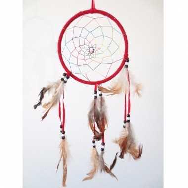 Rode dromenvanger met veren