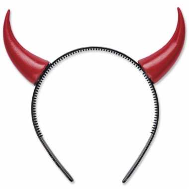 Rode duivel hoorntjes op haarband