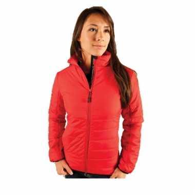 Rode fiberloft jas voor dames