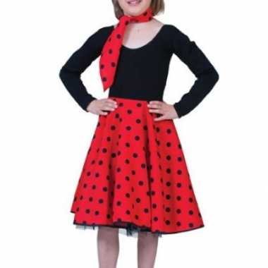 Rode fifties rok voor meiden