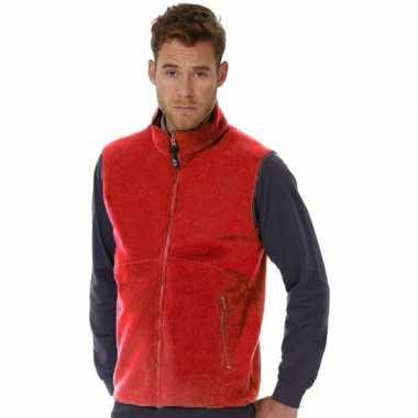Rode fleece sport bodywarmers voor heren