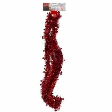 Rode folieslinger met sterretjes