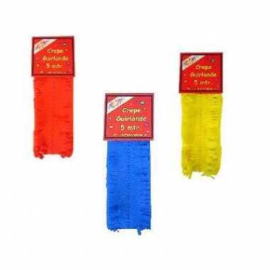 Rode gele blauwe feest slingers