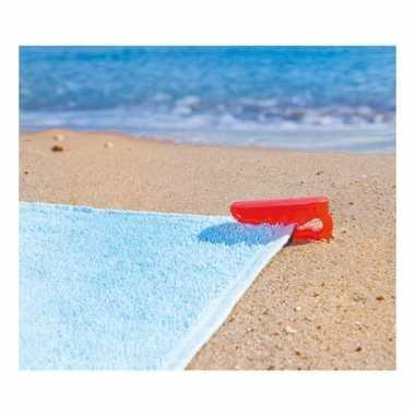 Rode handdoek klem