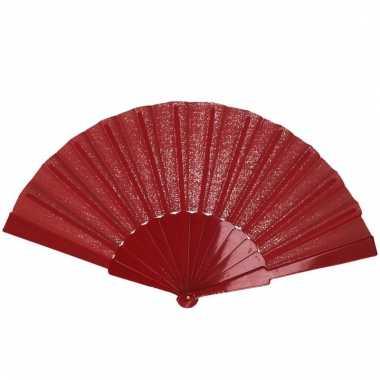 Rode handwaaier