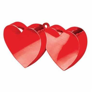 Rode hartjes ballon gewichten