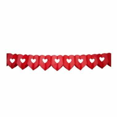 Rode hartjes slinger 6 meter