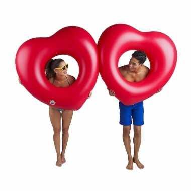 Rode hartjes zwembanden 2 stuks