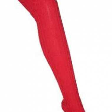 Rode heidi kousen voor vrouwen