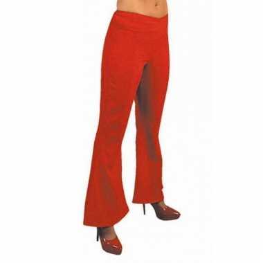 Rode hippie carnavals dames broeken