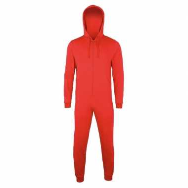Rode jumpsuit all-in-one voor dames