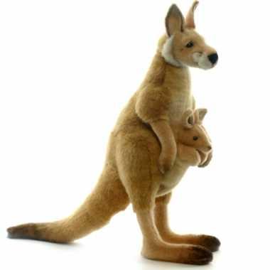 Rode kangaroe knuffeldier