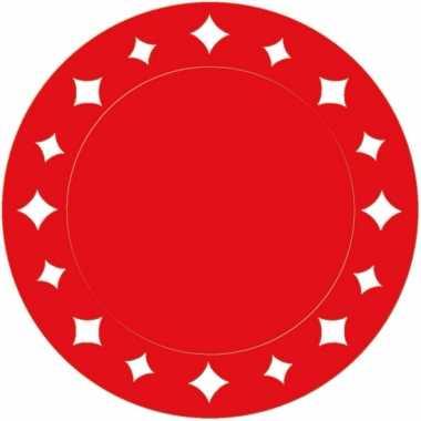 Rode kartonnen placemats 33 cm