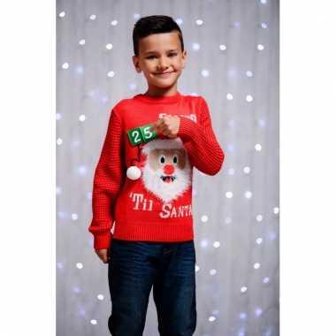 Rode kerstmis trui 3d aftellen voor kids