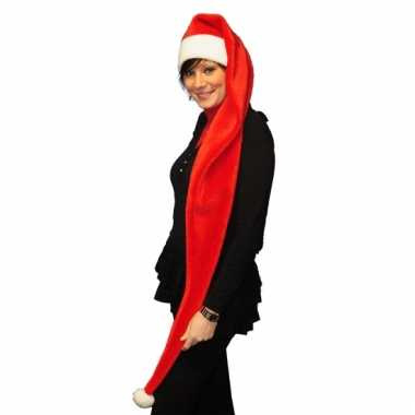 Rode kerstmuts lang model