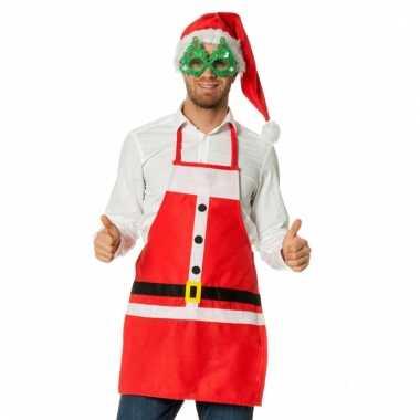 Rode kerstschort kerstman