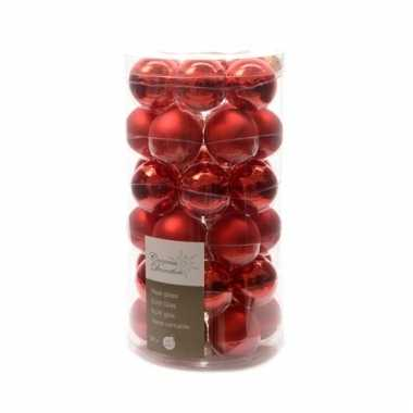 Rode kerstversiering kerstballen 36x