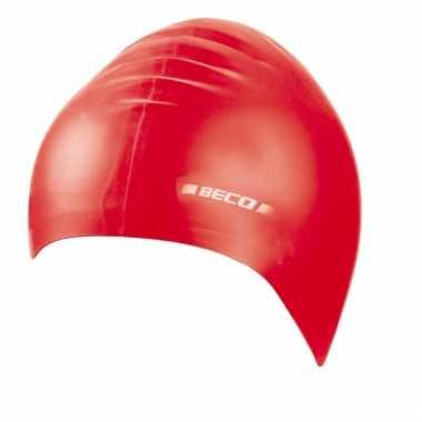 Rode kinder badmuts van siliconen