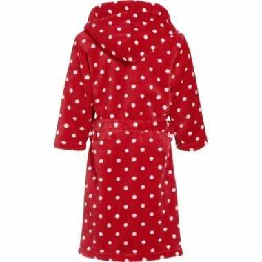 Rode kinderbadjas met stippen