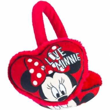 Rode minnie mouse oor warmers voor meisjes