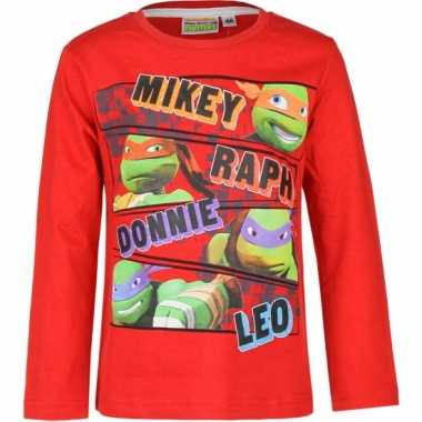 Rode ninja turtles shirt voor kids