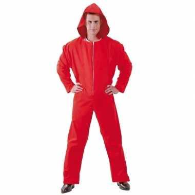 Rode overall papel voor heren