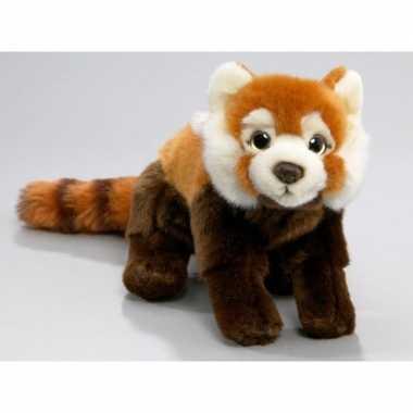 Rode panda knuffeldier 37 cm