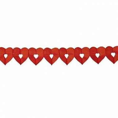 Rode papieren hartjes slinger