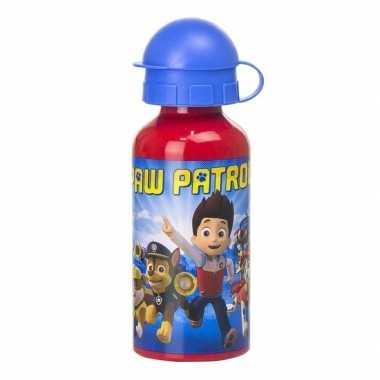 Rode paw patrol sport bidon voor kinderen 400 ml