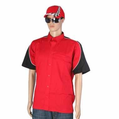 Rode race coureur shirt met pet maat xl
