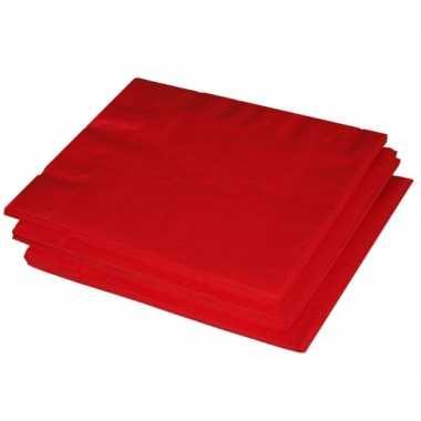 Rode servetten 60 stuks