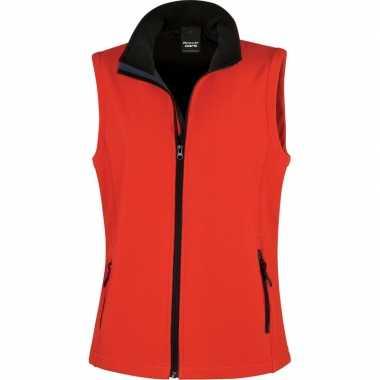 Rode softshell sport bodywarmers voor dames