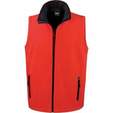 Rode softshell sport bodywarmers voor heren