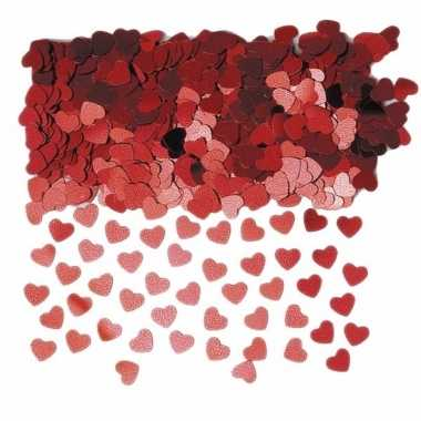 Rode valentijn hartjes confetti 6 zakjes