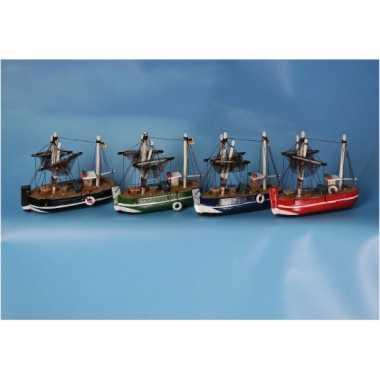 Rode vissersboot replica decoratie