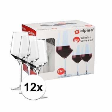Rode wijn glazen 12 stuks 530 cl