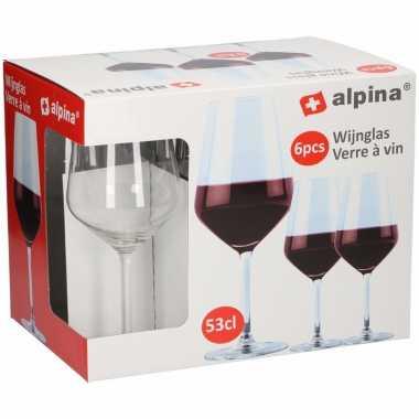 Rode wijn glazen 6 stuks 530 cl