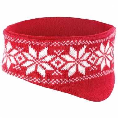 Rode winter haarband