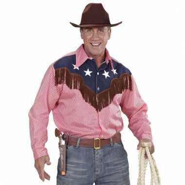Rodeo rood geruite shirt voor heren